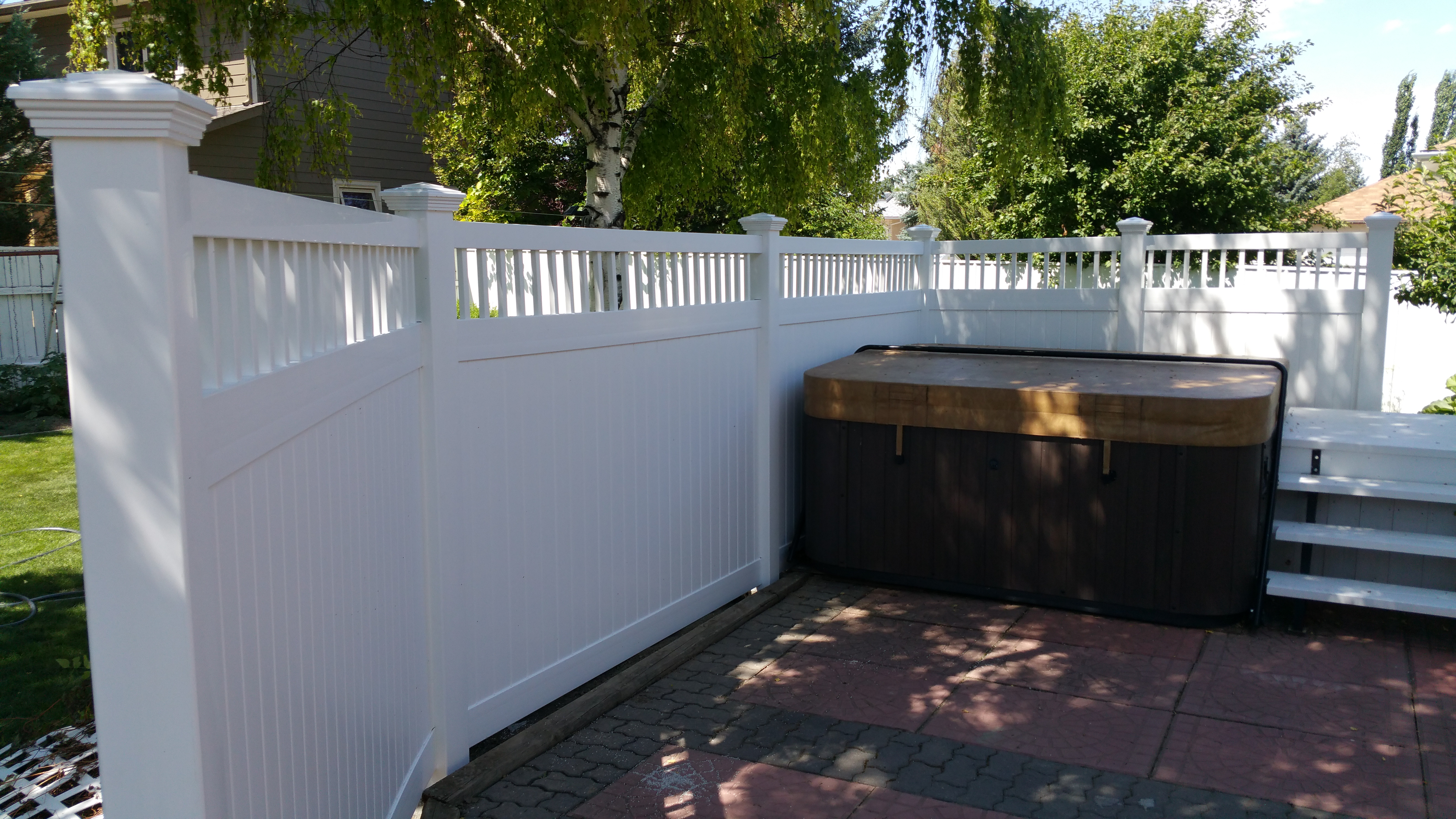 Infinity fences lethbridge fencing is different from the norm so residential custom accent vinyl fence baanklon Gallery