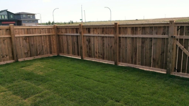 Residential Cedar Fence
