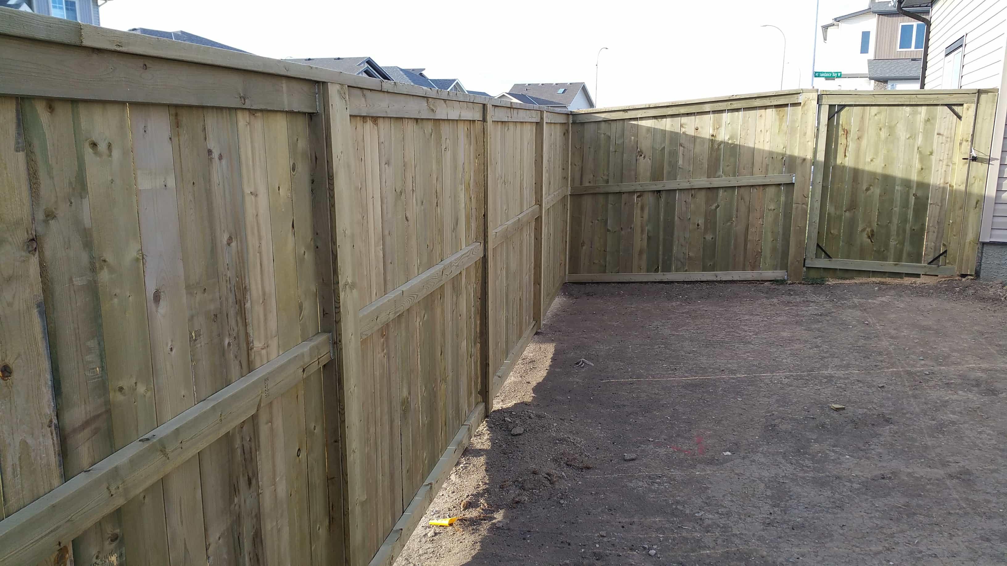 Treated wood Fence
